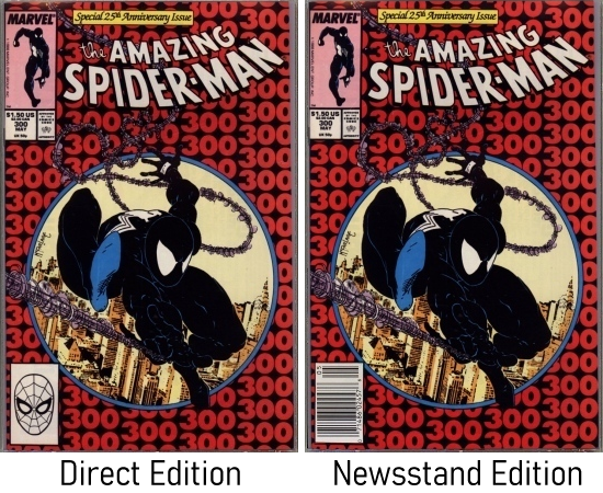 Amazing Spider-Man #300 Direct and Newsstand